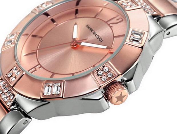 Reloj de mujer Mark Maddok dorado rosa y plateado