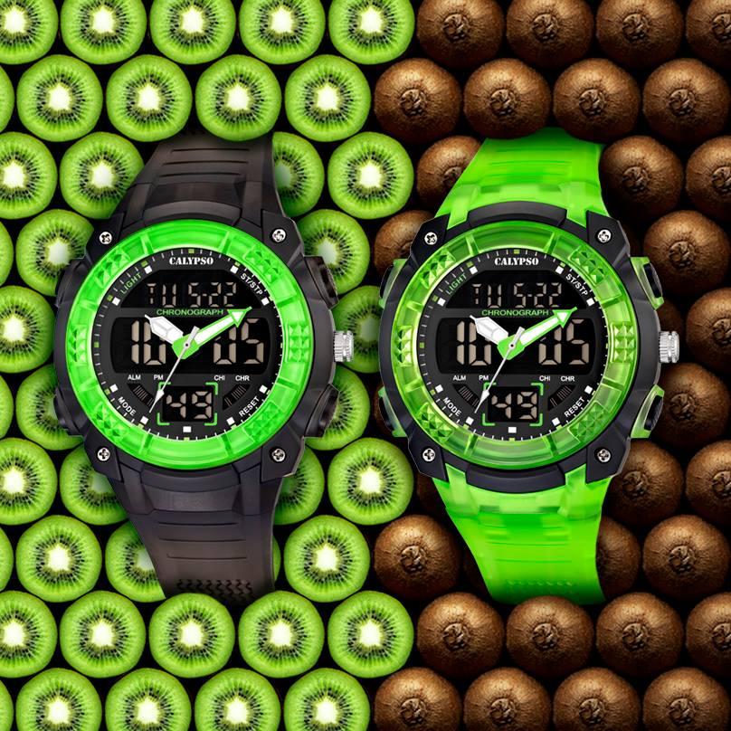 Relojes Calypso con correas de caucho