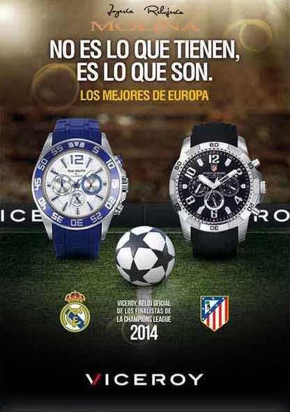 Relojes Real Madrid y Atletico de Madrid Viceroy