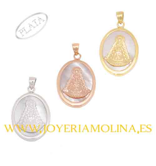 Medalla Virgen del Rocío ovalada