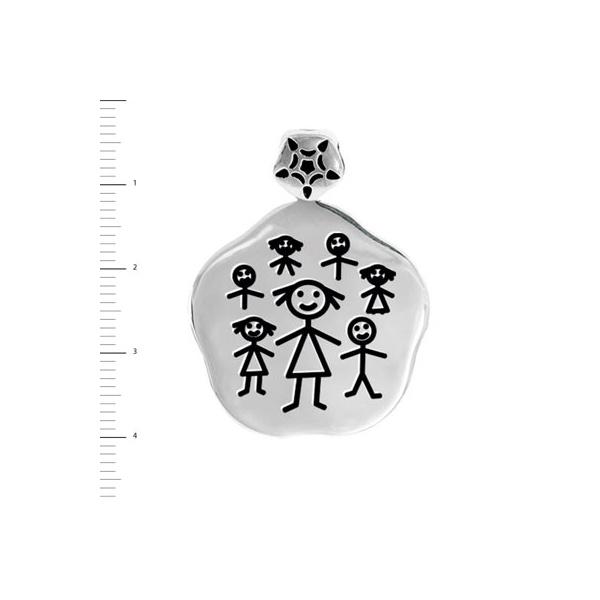 Medalla con niños para regalar a la seño