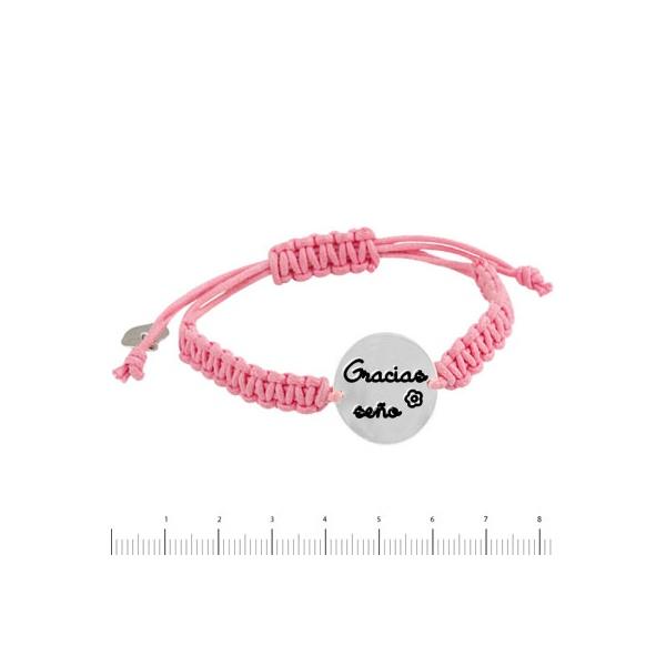 pulsera gracias seño rosa k-00586-pr02