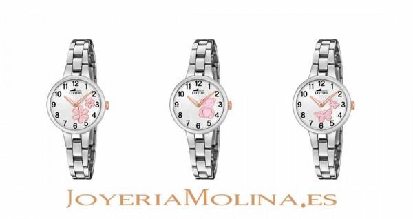 relojes comunión Lotus dibujos esferas