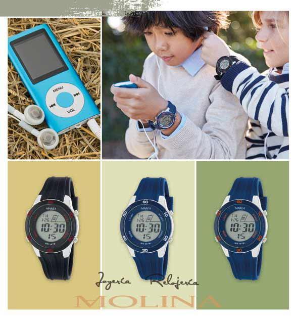 relojes comunión Marea niño digital goma