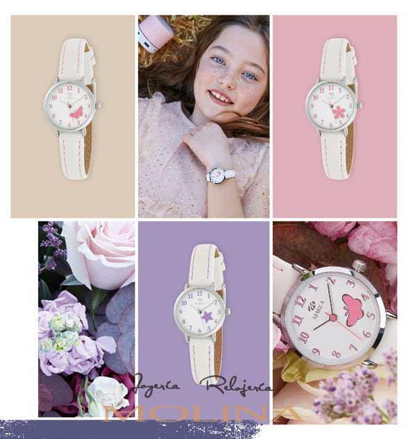 Fotos de relojes de comunión de la marca Marea correa