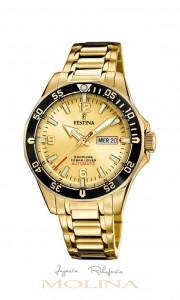 reloj Festina automatico dorado