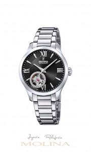 Reloj mujer Festina automatico cadena esfera negra
