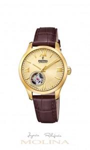 Reloj Festina automatico mujer correa marrón