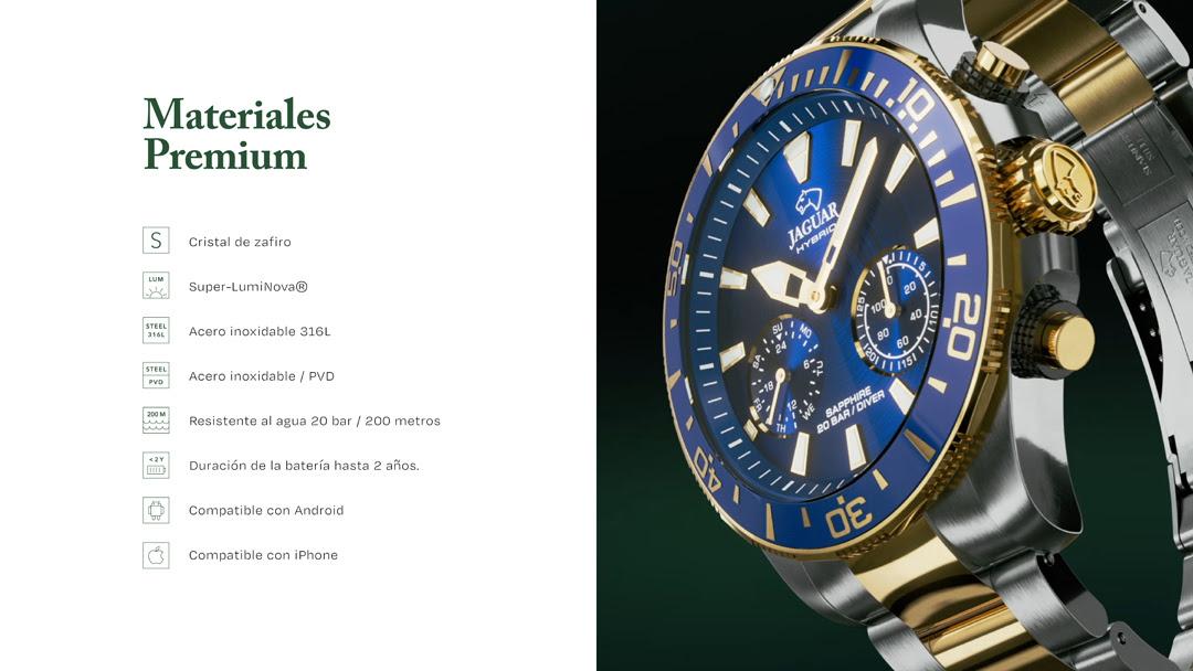 características relojes Jaguar híbridos